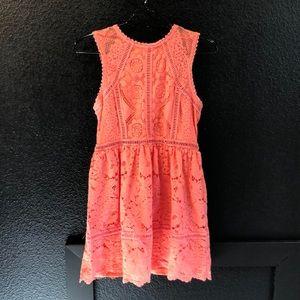 Pretty peach lace dress!